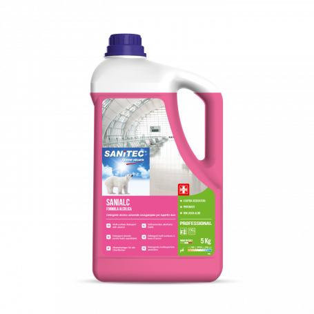 SANIALC Detergente alcolico universale asciugarapido per superfici dure TANICA 5 LT